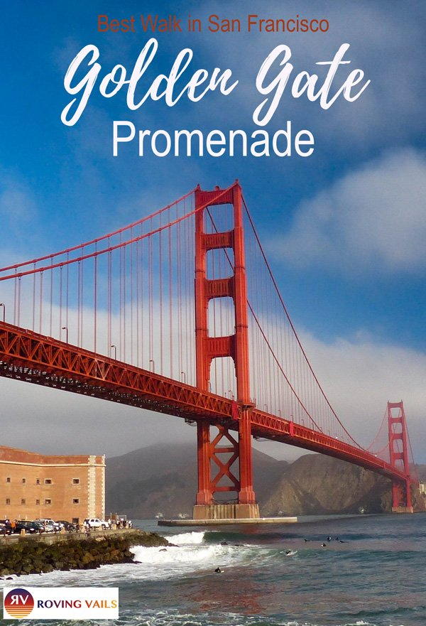 Check out one of the best walks in San Francisco, CA - Golden Gate Promenade!