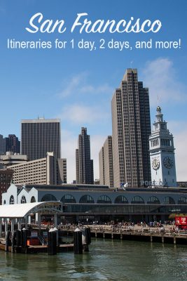 San Francisco itineraries for 1, 2, or 3 day trips. Don't miss any of the sights, start planning your trip today!