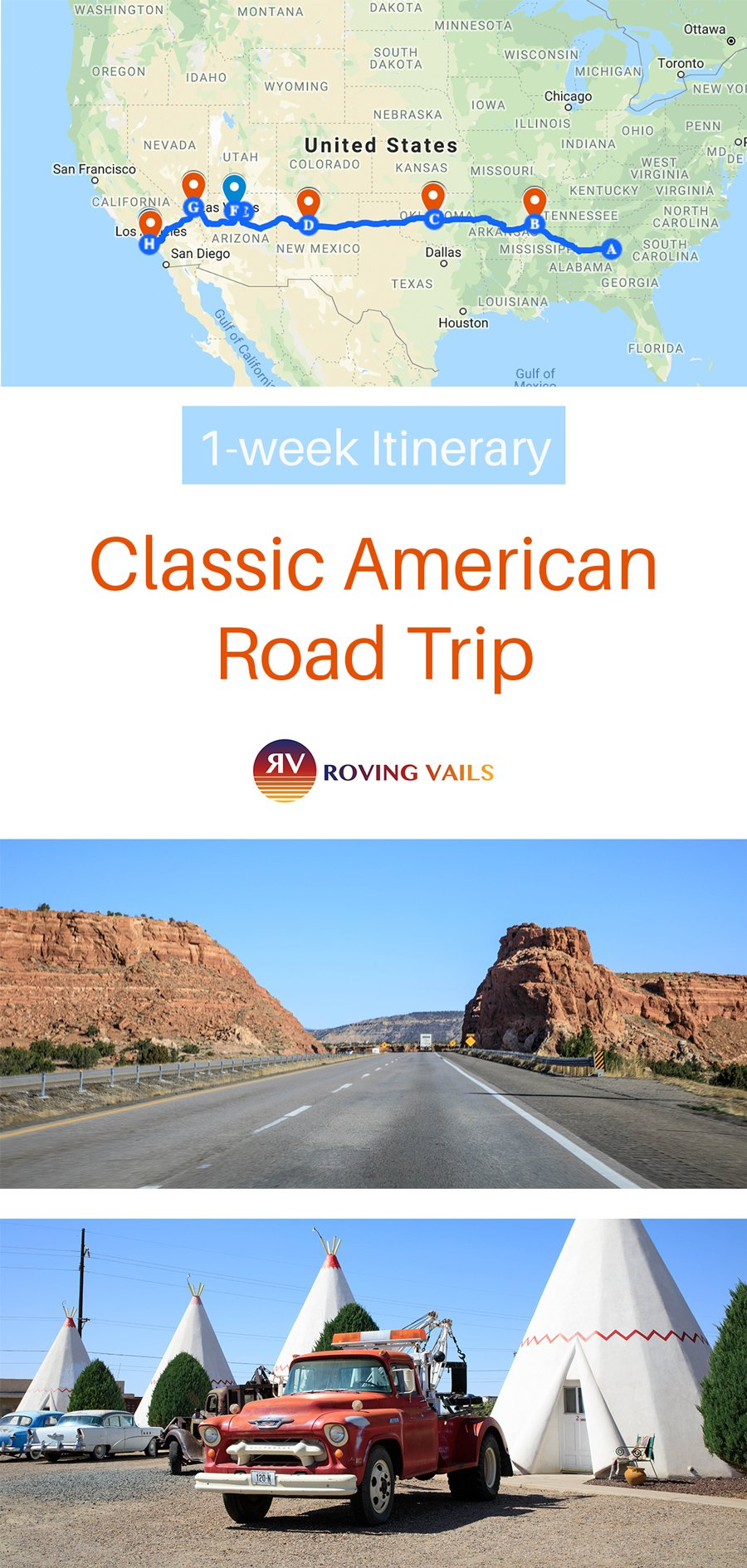 A one week classic American road trip on Interstate 40!